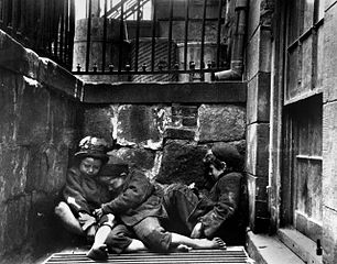 Children sleeping in Mulberry Street (1890), Jacob Riis (May 3, 1849 - May 26, 1914)