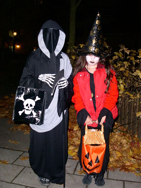 Trick or treat, in Sweden, photographed 31 October 2005 by ToyahAnette B