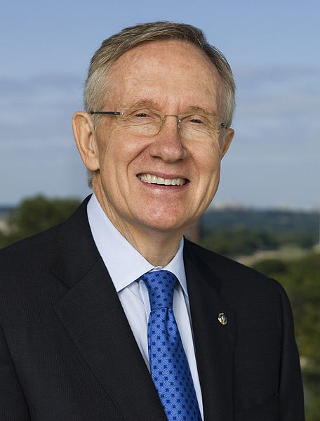 Harry Reid (D-NV), United States Senator from Nevada and Majority Leader of the United States Senate, official portrait, 2009