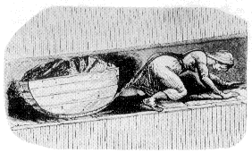 A child pulling a tub of coal in an underground mine, during the Victorian era. From www.victorianweb.org/history/ashley.html, a educational site offering free info on the victorian age.