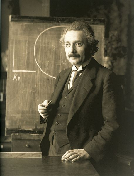 Albert Einstein during a lecture in Vienna in 1921. Photograph by Ferdinand Schmutzer (1870–1928).