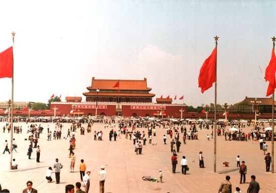 Tiananmen Square, Beijing, China, May 1988, one year before the protests.  Photo by Derzsi Elekes Andor.