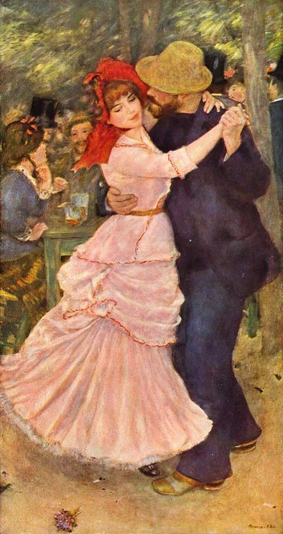 Dance at Bougival, painted by Pierre-Auguste Renoir (1841–1919) in 1882-1883, now at theMuseum of Fine Arts, Boston.