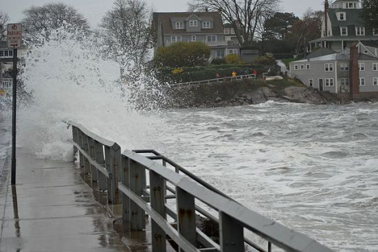 Flooding in Marblehead, Massachusetts, caused by Hurricane Sandy, photographed 29 October 2012 by the Birkes.