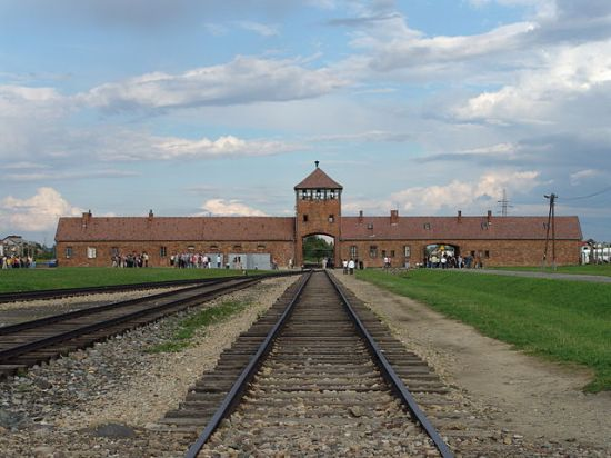 The main entrance to Auschwitz-Birkenau extermination camp (Wikipedia's caption in http://en.wikipedia.org/wiki/Auschwitz). Photo by Angelo Celedon (AKA Lito Sheppard) on August 2006.
