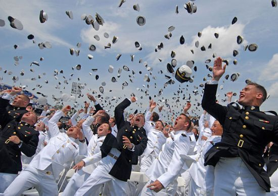 New Navy and Marine Corps officers during the graduation of the class of 2011 at the U.S. Naval Academy. U.S. Navy photo by Mass Communication Specialist 1st Class Chad Runge/Released.