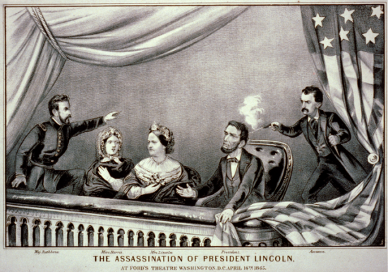 Lithograph of the Assassination of Abraham Lincoln.  Currier & Ives, 1865.