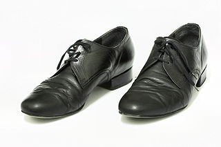 Mens' ballroom shoes at the Eurodance (Vladimír Bábor), Czech Republic, photographed 25 February 2009 by Martin Kozák.
