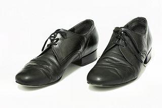 Mens' ballroom shoes at the Eurodance (Vladimír Bábor), Czech Republic, photographed 25 February 2009 by Martin Kozák.