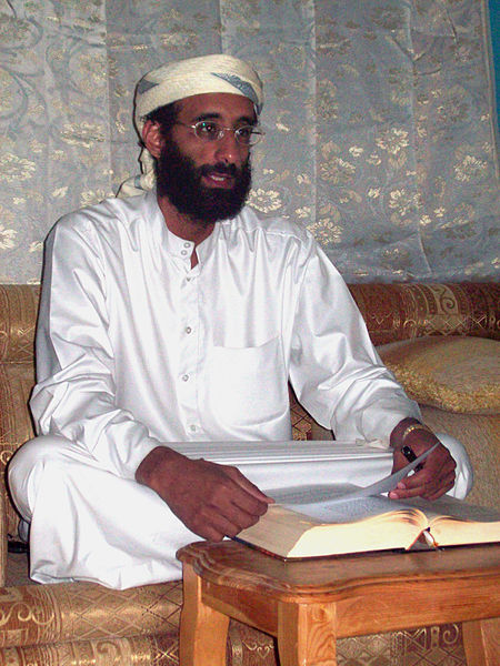 Anwar al-Awlaki in Yemen October 2008, a lightened version (by Greg A L) of a photo taken by Muhammad ud-Deen.