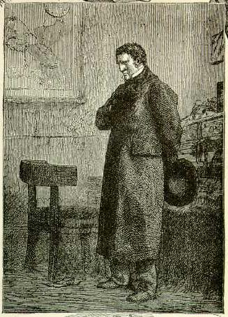 Jean Valjean, drawn by Gustave Brion (1824-1877) to illustrate Victor Hugo's novel Les Miserables.