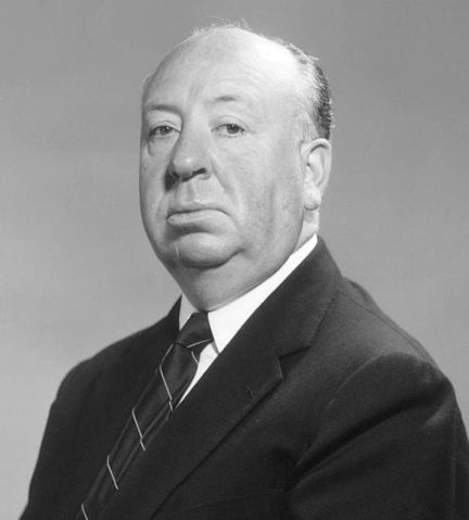 Studio publicity still of Alfred Hitchcock.
