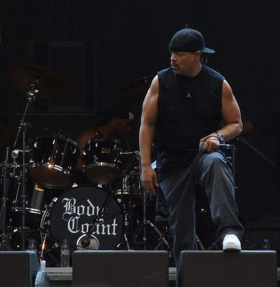 Ice-T during the Body Count concert. Prague, August 2006, photographed by Mohylek.