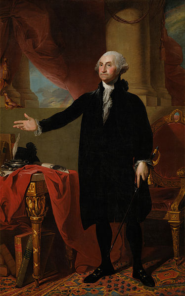 The Lansdowne portrait of George Washington, painted by Gilbert Stuart in 1796.