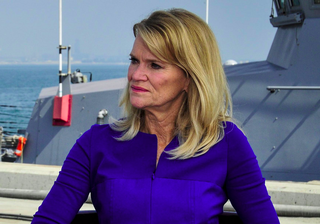 Martha Raddatz interviews John W. Miller, commander of U.S. Naval Forces Central Command, U.S. 5th Fleet, Combined Maritime Forces, 24 September 2014.