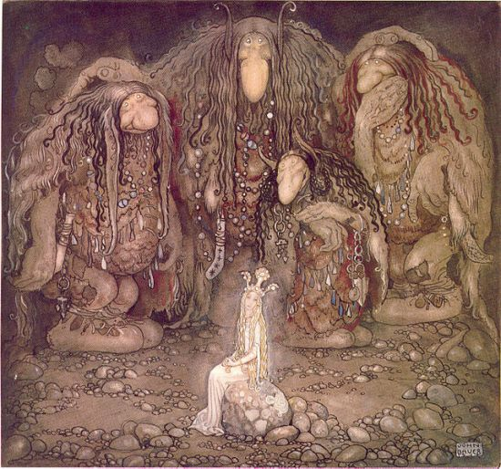 "John Bauer (1882-1918), artist, in 1915: ""Look at them,"" troll mother said. ""Look at my sons! You won't find more beautiful trolls on this side of the moon."""