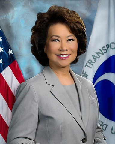 Elaine Chao, Trump's Secretary of the Department of Transportation.