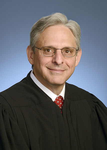 Merrick Garland. This photograph was provided to the press by the United States Court of Appeals for the District of Columbia Circuit in 2016 on the occasion of Garland's nomination to the Supreme Court of the United States by US President Barack Obama. At the time Garland was chief judge of the United States Court of Appeals for the District of Columbia Circuit, having served as a federal judge on the court since 1997.