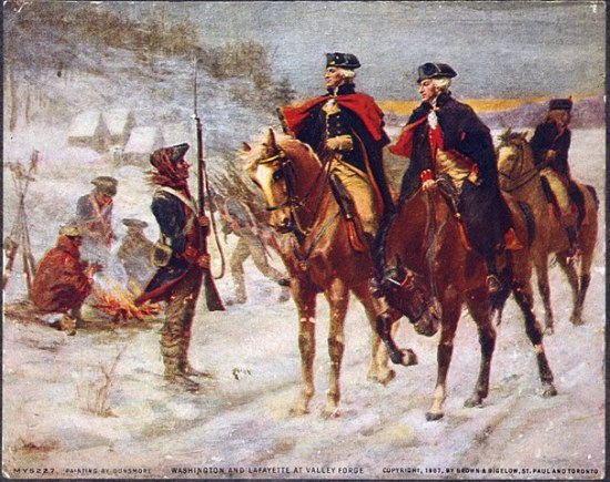 Washington and Lafayette at Valley Forge, John Ward Dunsmore, 1906