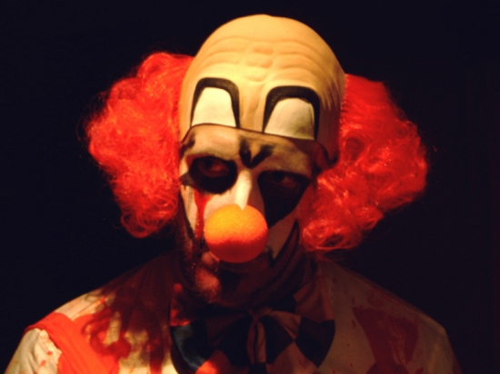 Scary Clown, photographed by Graeme Maclean in 2005.